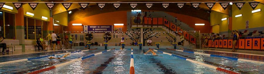 I Nocne Zawody Pływackie w Sandomierzu